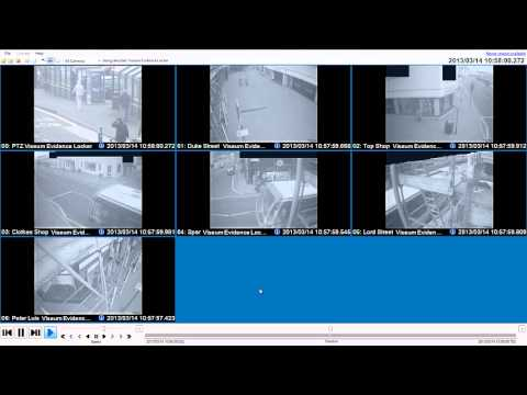 CCTV demonstration - live manual control and evidence