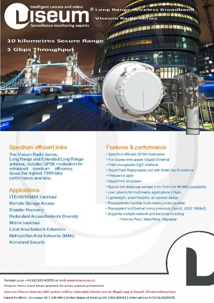 Wireless CCTV Solutions - Viseum Radio Series™ High Security