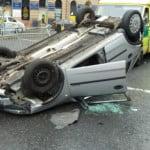 Car crash incident captured on Community CCTV camera
