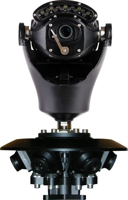Virtual Gigapixel 360° Police CCTV Camera